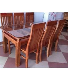Bộ bàn ghế ăn 6 ghế gỗ xoan đào bắc