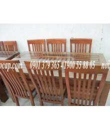 Bộ bàn ăn 6 ghế gỗ xoan đào gia lai, sồi nga