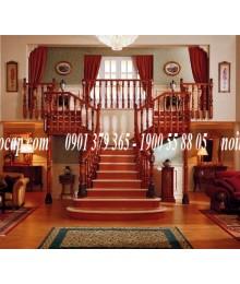 Cầu thang gỗ dổi