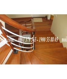 Cầu thang gỗ lim lào