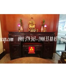 Bộ bàn thờ mẫu hiện đại bằng gỗ Gõ đỏ đẹp