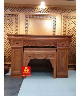 Bộ bàn thờ gỗ Gõ đỏ mẫu mới
