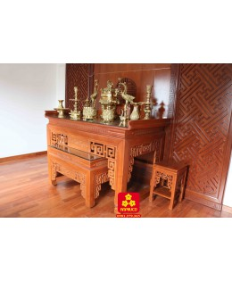 Bộ bàn thờ mẹ con gỗ Gõ đỏ