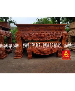 Bộ sập thờ bằng gỗ Hương Nam Phi