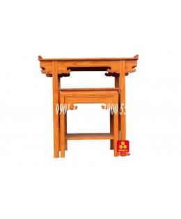 Bộ bàn thờ gỗ Gõ đỏ kiểu Sen