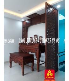 Mẫu bộ bàn thờ gỗ Hương cao cấp