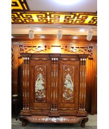 Tủ thờ gỗ Hương cao cấp, khảm trai