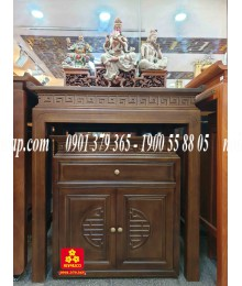 Bộ bàn thờ gỗ Sồi hiện đại 107