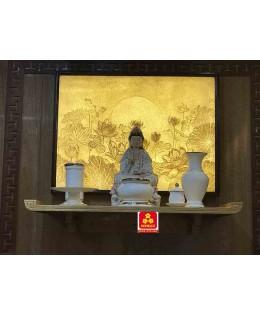 Bàn thờ treo tường gổ gõ đỏ(M-MT1GD.107.48.001)