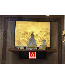 Bàn thờ treo tường gổ gõ đỏ(M-MT1GD.88.48.003)