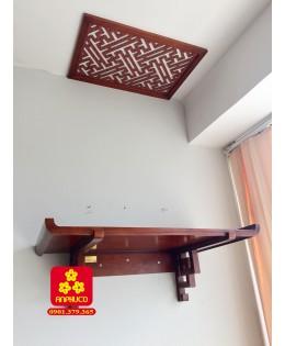 Bàn thờ treo tường chung cư gỗ Hương