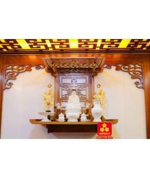 Trang thờ Phật gỗ Sồi