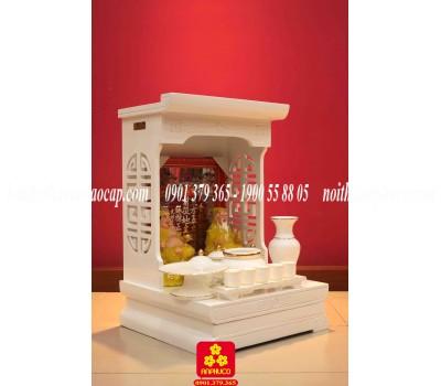Mẫu bàn thờ Ông Địa đẹp màu trắng