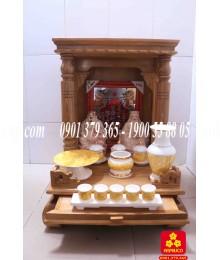 Mẫu bàn thờ Ông Địa đẹp bằng gỗ Sồi