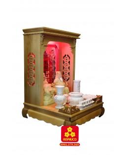 Mẫu bàn thờ Thần Tài đẹp gỗ Sồi