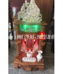 Tủ thờ ông địa gỗ Căm Xe Điện Tử 56.88