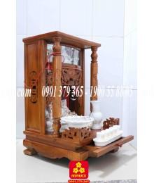 Bàn thờ Ông Địa gỗ Tràm 48 có điện tử